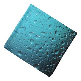 Stylish Cool Blue water drops Bandana