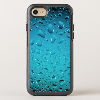 Stylish Cool Blue water drops OtterBox Symmetry iPhone 7 Case