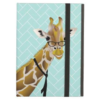 Stylish Cool Giraffe in Teal Powis iPad Air Case