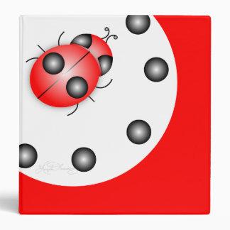 Stylish Cool Ladybug Binder