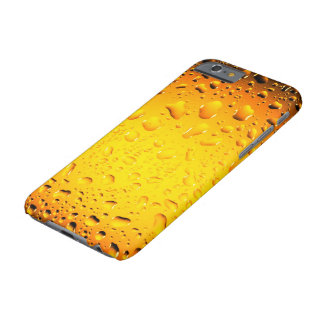 Stylish Cool Yellow water drops iPhone 6 Plus Barely There iPhone 6 Case