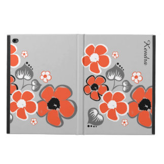 Stylish Coral and Gray Floral iPad Air 2 Case