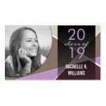 Stylish Criss Cross Photo Graduation Contact Card Business Card