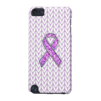 Stylish Crystal Pink Ribbon Awareness Knit Decor iPod Touch 5G Cover