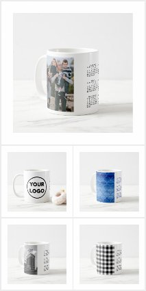 Stylish Custom 2019 Calendar Mugs