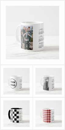Stylish Custom 2020 Calendar Mugs