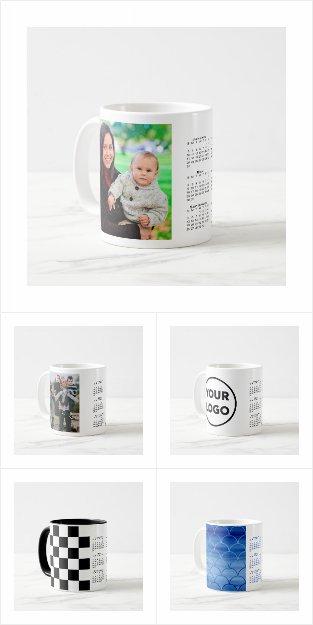 Stylish Custom 2021 Calendar Mugs