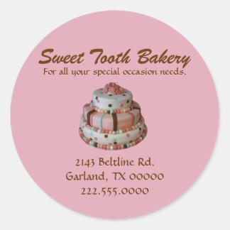 Stylish Custom Cake Bakery Box Stickers