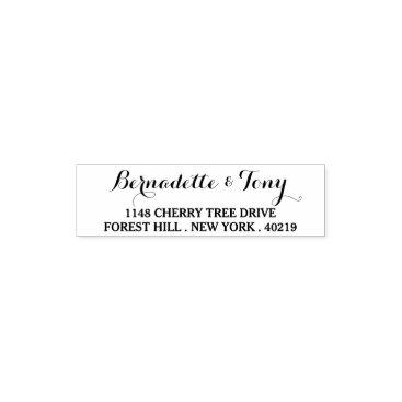 Invitation_Republic Stylish Custom Name & Address Self Inking Stamp