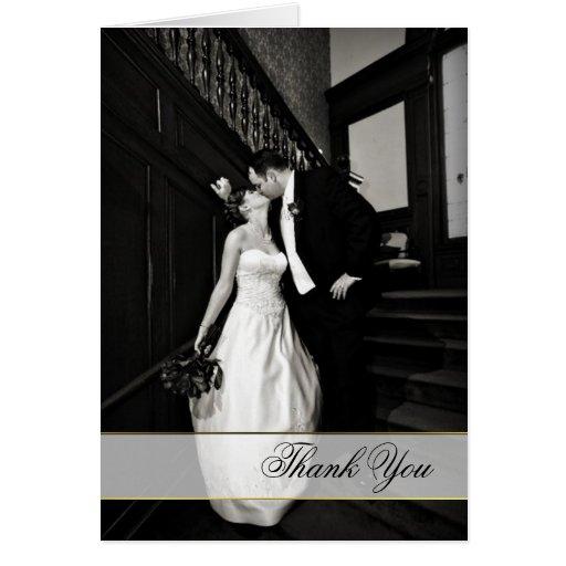 Stylish Custom Wedding Photo Thank You Card