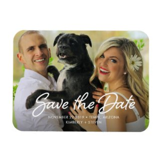 Stylish Custom Wedding Save the Date Photo Magnet