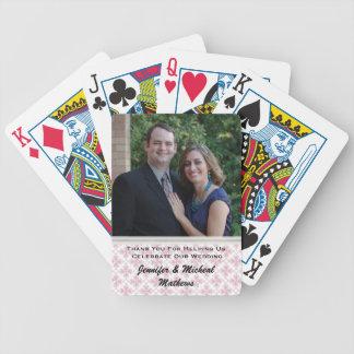 Stylish Custom Wedding Thank You Playing Cards