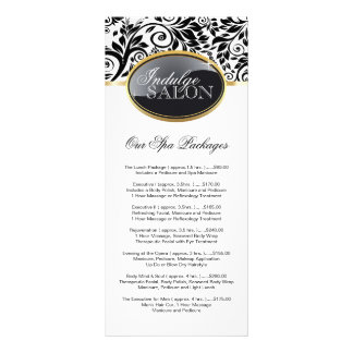 Stylish Customizable Salon Rack Card