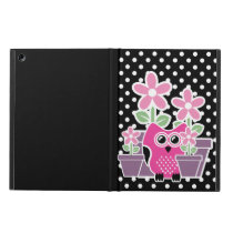 Stylish Cute Flowers And Owl Case For iPad Air