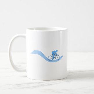 Stylish Cycling Themed Design in Blue. Coffee Mug