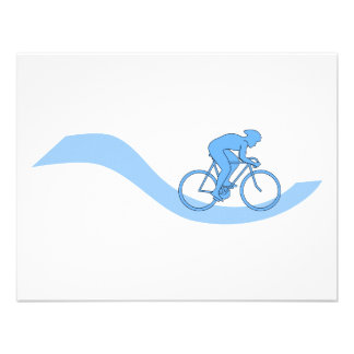Stylish Cycling Themed Design in Blue. Personalized Invites