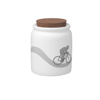 Stylish Cycling Themed Design in Gray. Candy Dish