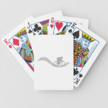 Stylish Cycling Themed Design in Gray. Poker Deck