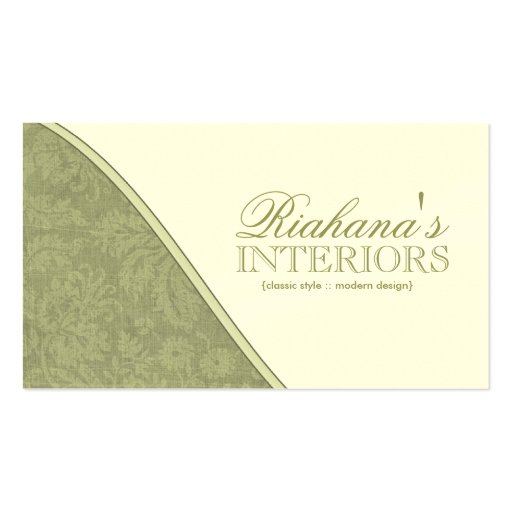 Stylish Damask Business Cards