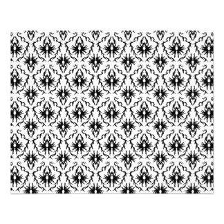 Stylish Damask Design, Black and White. Flyer