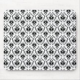 Stylish Damask Design, Black and White. Mouse Pad