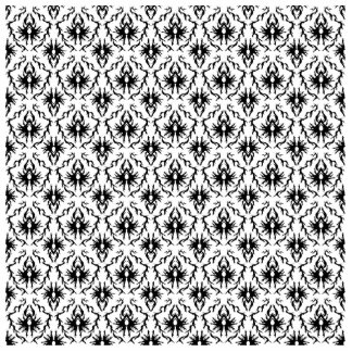 Stylish Damask Design, Black and White. Statuette
