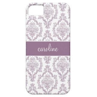 Stylish Damask iPhone Cases (Purple) iPhone 5 Cases