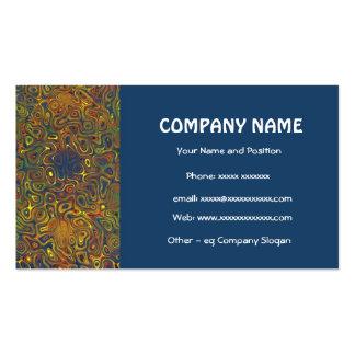 Stylish Dark Blue Business Card