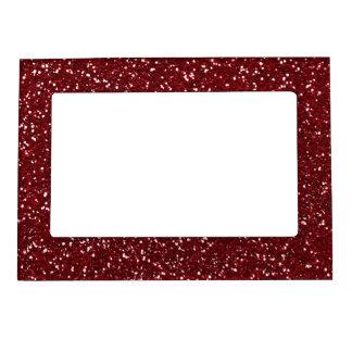 Stylish Dark Red Glitter Magnetic Photo Frame