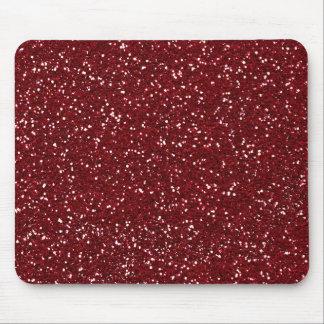Stylish Dark Red Glitter Mouse Pad