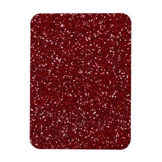 Stylish Dark Red Glitter Rectangular Photo Magnet