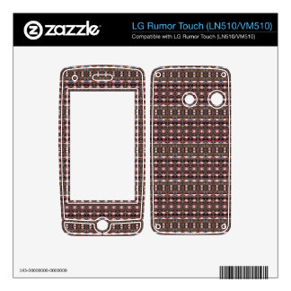 stylish deco pattern decals for LG rumor touch