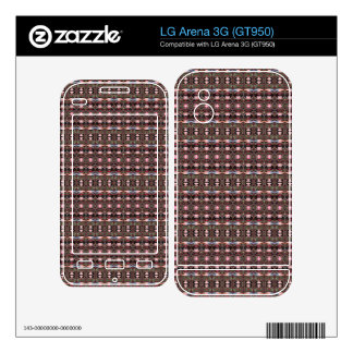 stylish deco pattern skin for the LG arena 3G