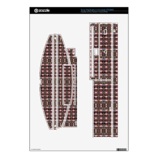 stylish deco pattern decals for PS3 console