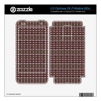 stylish deco pattern decal for LG optimus 2X