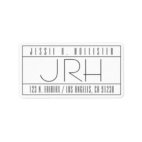 Stylish Deco Vibe Return Address Label
