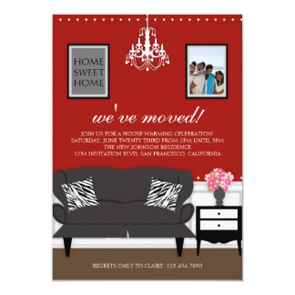 Stylish Decor Housewarming Invite