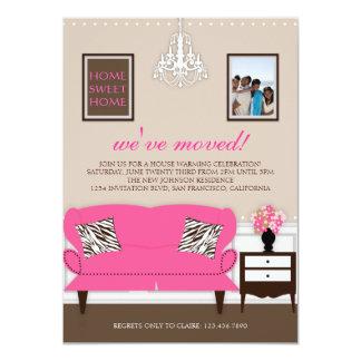 "Stylish Decor Housewarming Invite 4.5"" X 6.25"" Invitation Card"