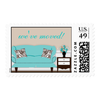 Stylish Decor Housewarming Postage Stamp