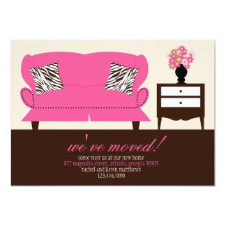 "Stylish Decor Moving Announcement 5"" X 7"" Invitation Card"