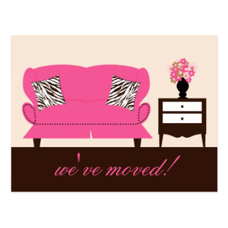 Stylish Decor Moving Announcement Postcard