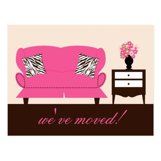 Stylish Decor Moving Announcement Postcard
