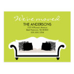 Stylish Decor Moving Announcements Post Cards