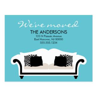 Stylish Decor Moving Announcements Postcard