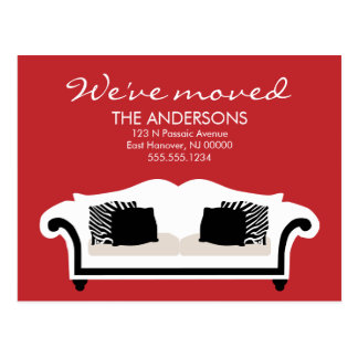 Stylish Decor Moving Announcements Postcard