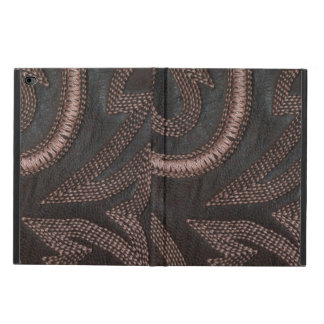 Stylish Decoratively Sewn Brown Vintage Leather Powis iPad Air 2 Case