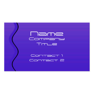 Stylish Deep Blue Waves, Abstract Design. Business Card