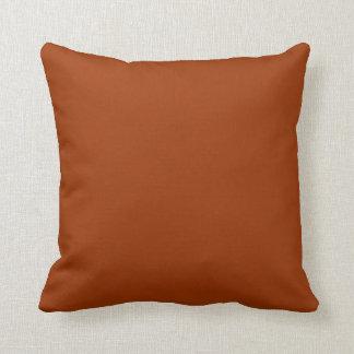 Stylish Deep Burnt Orange >Plain Throw Pillow