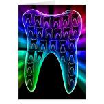 Stylish dental art greeting card