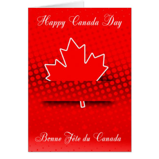 Stylish design for Canada Day in French and Englis Card